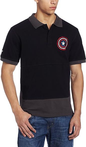 Marvel Captain America - Polo para Hombre - Gris - Medium: Amazon ...