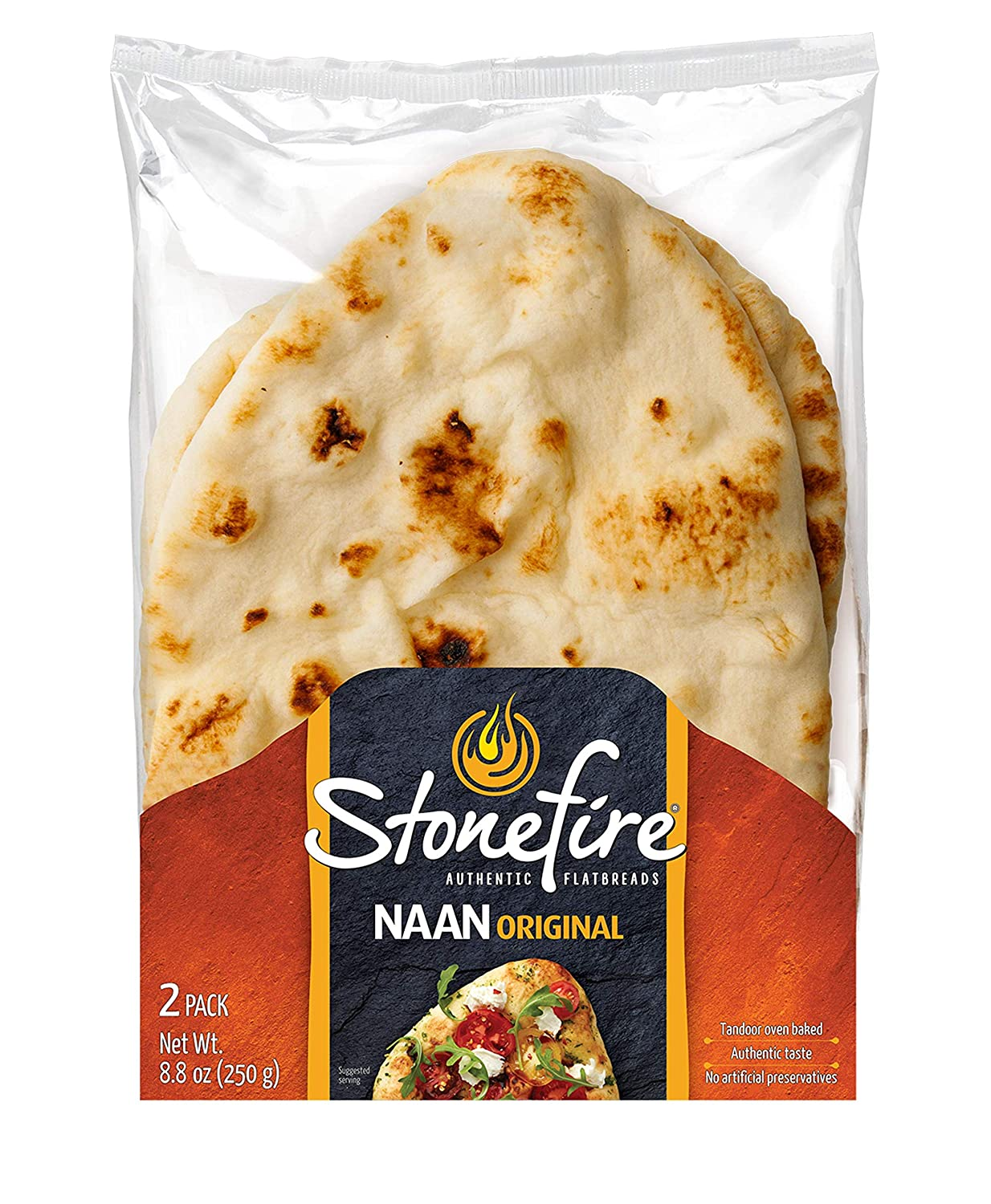 Stonefire Authentic Flatbreads All Natural, Original 8.8 Oz (Pack of 3)