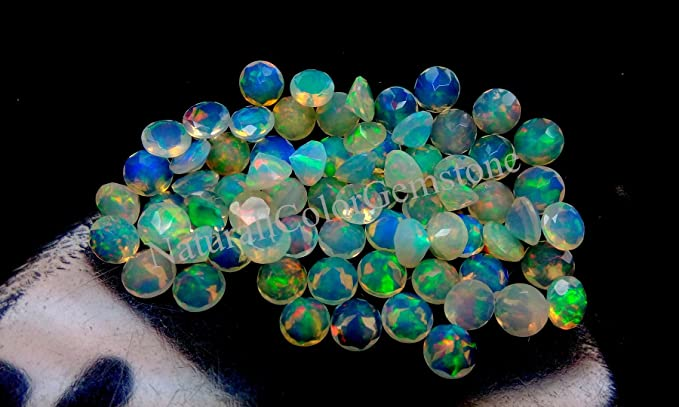 Welo Opal Faceted Opal Pear Opal Opal stone Fire Opal 5x7 MM 5 Pieces Lot Top quality Natural Welo Fire Faceted Ethiopian Opal Gemstone