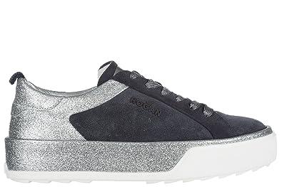 83fefeda0f Amazon.com | Hogan Rebel women's shoes suede trainers sneakers r320 ...