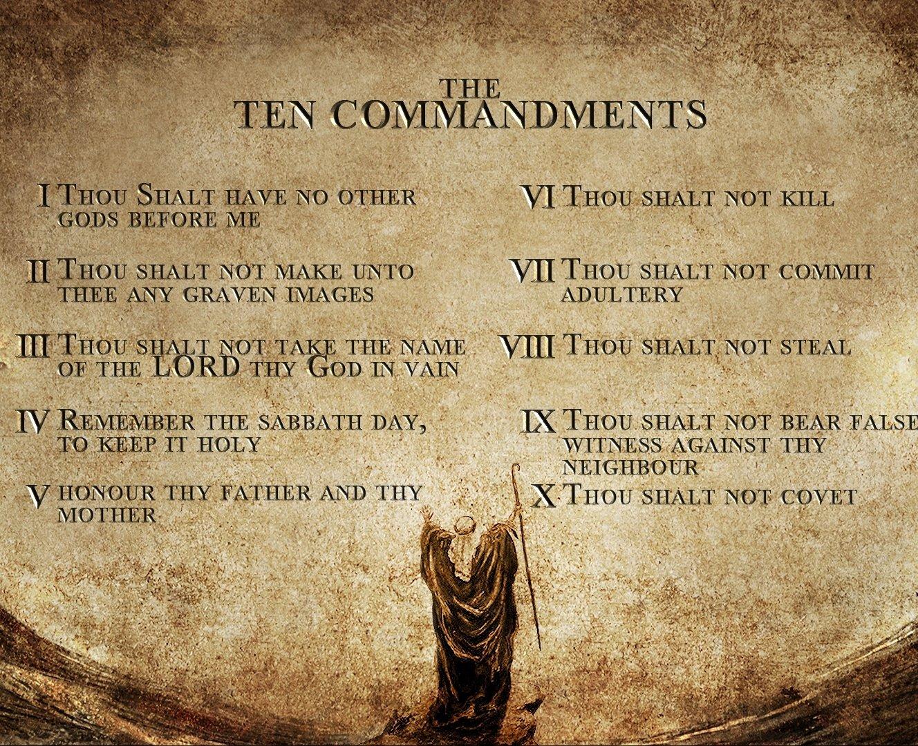 Amazon.com: Home Made Ten Commandments Christian - Christianity 8 x ...