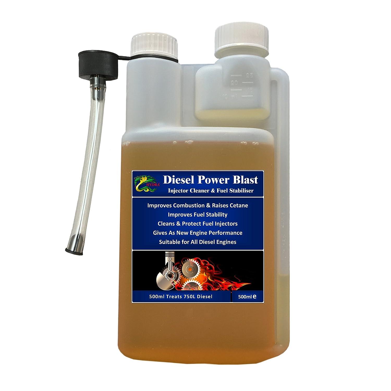 HYDRA Diesel Power Blast Treats 750L+ Diesel Injector Cleaner 500ml: Amazon.co.uk: Car & Motorbike