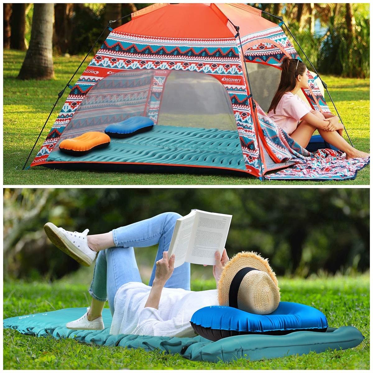 Schlafmatte Luftbett f/ür Outdoor wandern RYACO Isomatte Aufblasbare Luftmatte Ultraleicht Kleines Packma/ß Camping Matratze mit Airbag Reise Strand Trekking und Backpacking