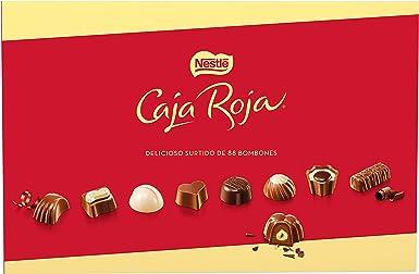 Nestlé Caja Roja Bombones de Chocolate - Bombones 800 gr: Amazon ...