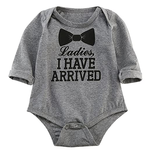 09e23f51b16 Oklady Newborn Baby Boys Girls Mother s Day Summer Clothes Bowtie Long Sleeve  Romper Jumpsuit Outfits(