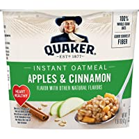 Deals on 12-Count Quaker Instant Oatmeal Express Apples & Cinnamon