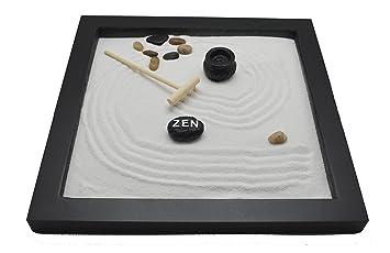 Table Top Rock Sand Rake Zen Garden Incense Holder Tabletop Set