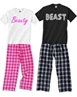 Footsteps Clothing Beauty & Beast Fun Couples Matching Pajamas