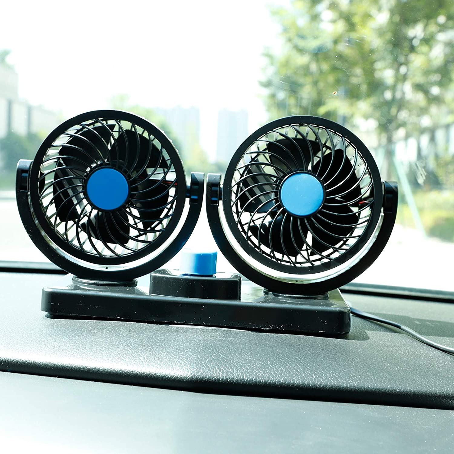 SUPERFASTRACING 12V 4.5Car Cooling Fan Automobile Vehicle Clip Fan Powerful Quiet Ventilation Electric Car Fans with Adjustable Clip for Sedan SUV RV