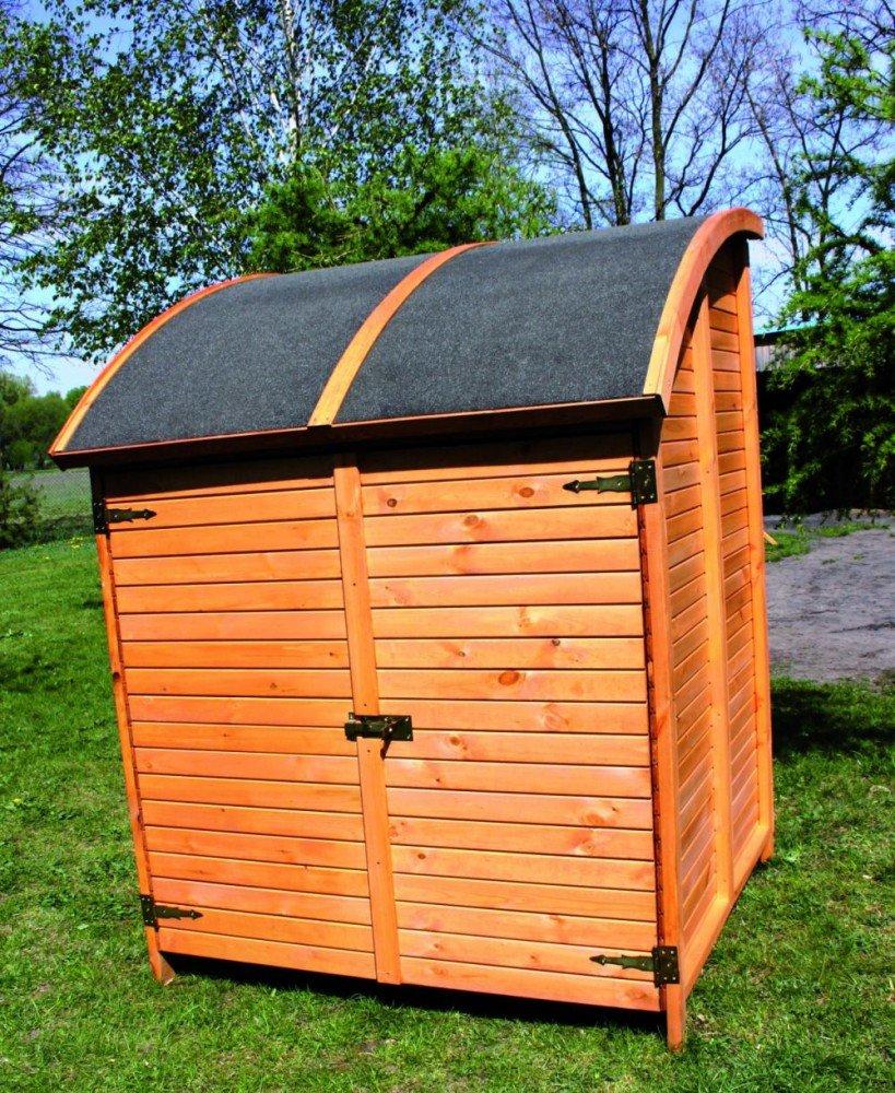 Holz-Bikeport Martin Fahrradgarage Gerätehaus Schuppen Schrank, Ausstattung:mit 1 Fahrradhalter