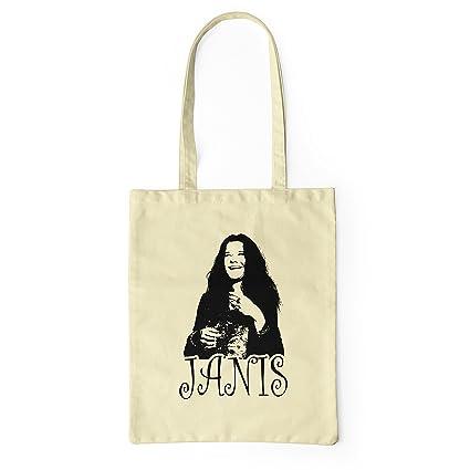 LaMAGLIERIA Bolsa de Tela Janis Joplin Rock Icon - Tote Bag ...