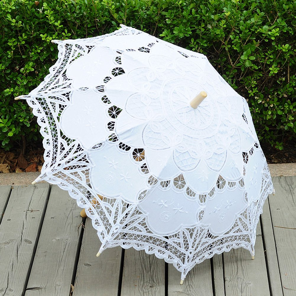 TBNA Bridal Lace Umbrellas Wedding Umbrella Bridal Parasol Umbrella for Bride Bridesmaid by TBNA Bridal (Image #4)