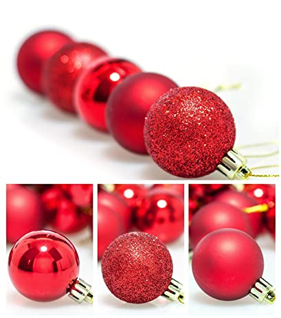 24pcs 40mm Shatterproof Christmas Balls Ornaments Xmas Tree Hanging Decors  For Party Wedding Ceremony Garden Home