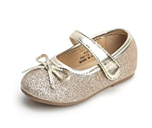 THEE BRON Girl's Toddler/Little Kid Ballet Mary Jane Flat Shoes (6M US Toddler, Lg03 Gold) (Color: Lg03 Gold, Tamaño: 6 Toddler)