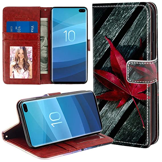 5453fc23f93 Image Unavailable. Image not available for. Color: Wallet Case for Samsung  Galaxy S10 ...