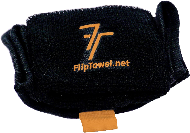 Yoga Combines a Sweatband and Sports Towel to Wipe Off Sweat While On The Go Biking Hiking Etc. Running Zumba Fliptowel Microfiber Towel Aerobics
