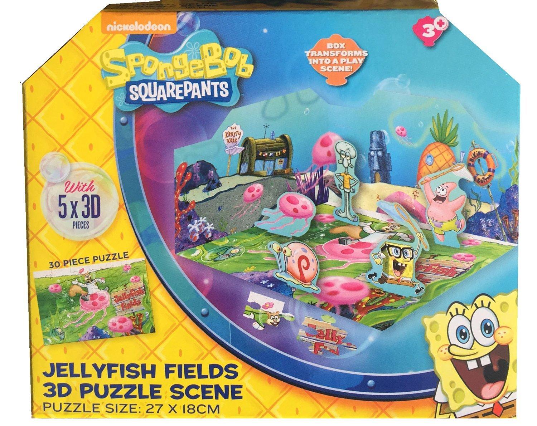 spongebob squarepants 3d puzzle scene 30 pieces 27x18cm in a great
