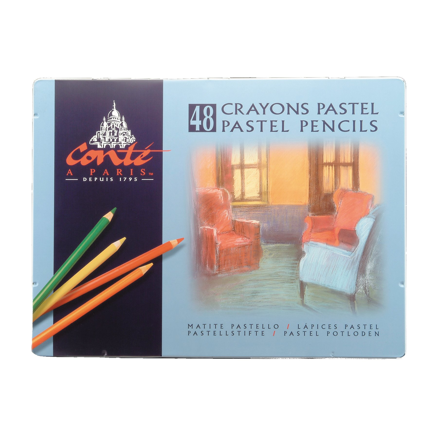 Conte 2184 48-Count Assortment of Pastel Pencils