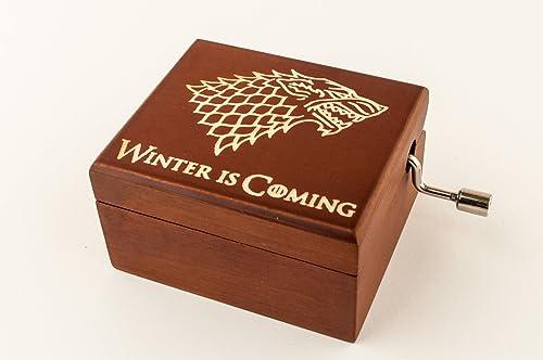 Caja de música de madera grabada Juego de tronos. Un regalo único ...