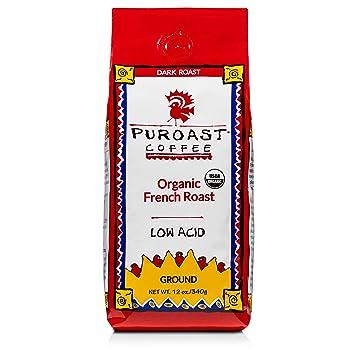Puroast Low Acid Organic Ground Dark Roast Coffee