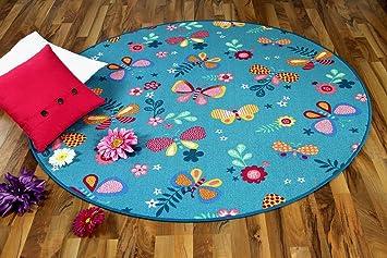 Teppich Schmetterling Rosa ~ Amazon snapstyle kinder spiel teppich schmetterling türkis