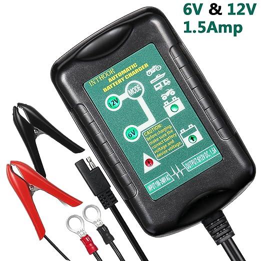 Ladegerät Auto, InThoor Ultra-sicheres und intelligentes Autobatterie Ladegeräte - KFZ batterieladegerät für Auto Motorrad, 6