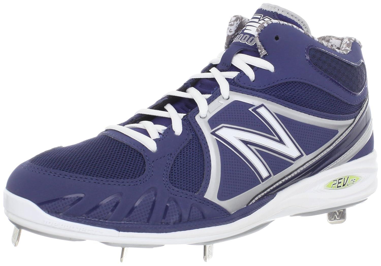 New Balance Men's MB3000 Mid-cut Baseball Cleat Blue/White 15 2E US New Balance Team Footwear MB3000 Mid-cut-M