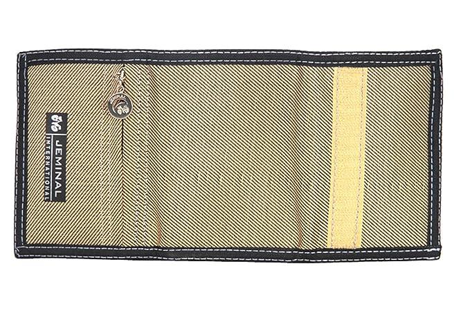 bea5b0a7f7 Tri-fold portafoglio portafoglio tela dei nuovi uomini: Amazon.it:  Abbigliamento