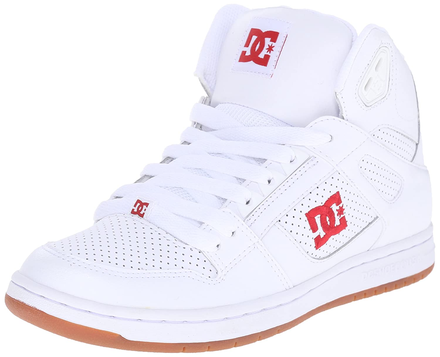 DC Youth Rebound Skate Shoes B014GB784O 10.5 M US Little Kid|White/Red