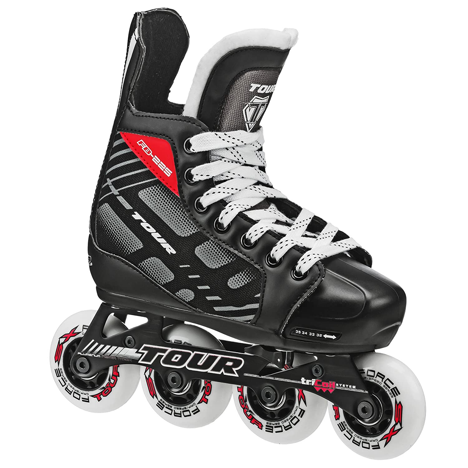Tour Hockey 38ty-m Fb-225réglable Inline Hockey Skate (Taille 1–4) Roller Derby