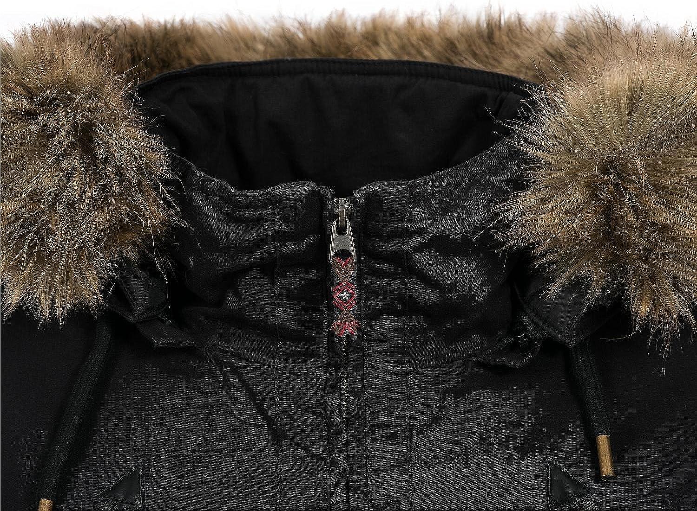 sublevel damen winterjacke mantel parka jacke warm 44276a