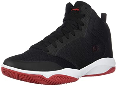 7162280f29aef Champion Men s Black Red Men s Inferno Basketball Shoe 6.5 Regular   Amazon.co.uk  Shoes   Bags
