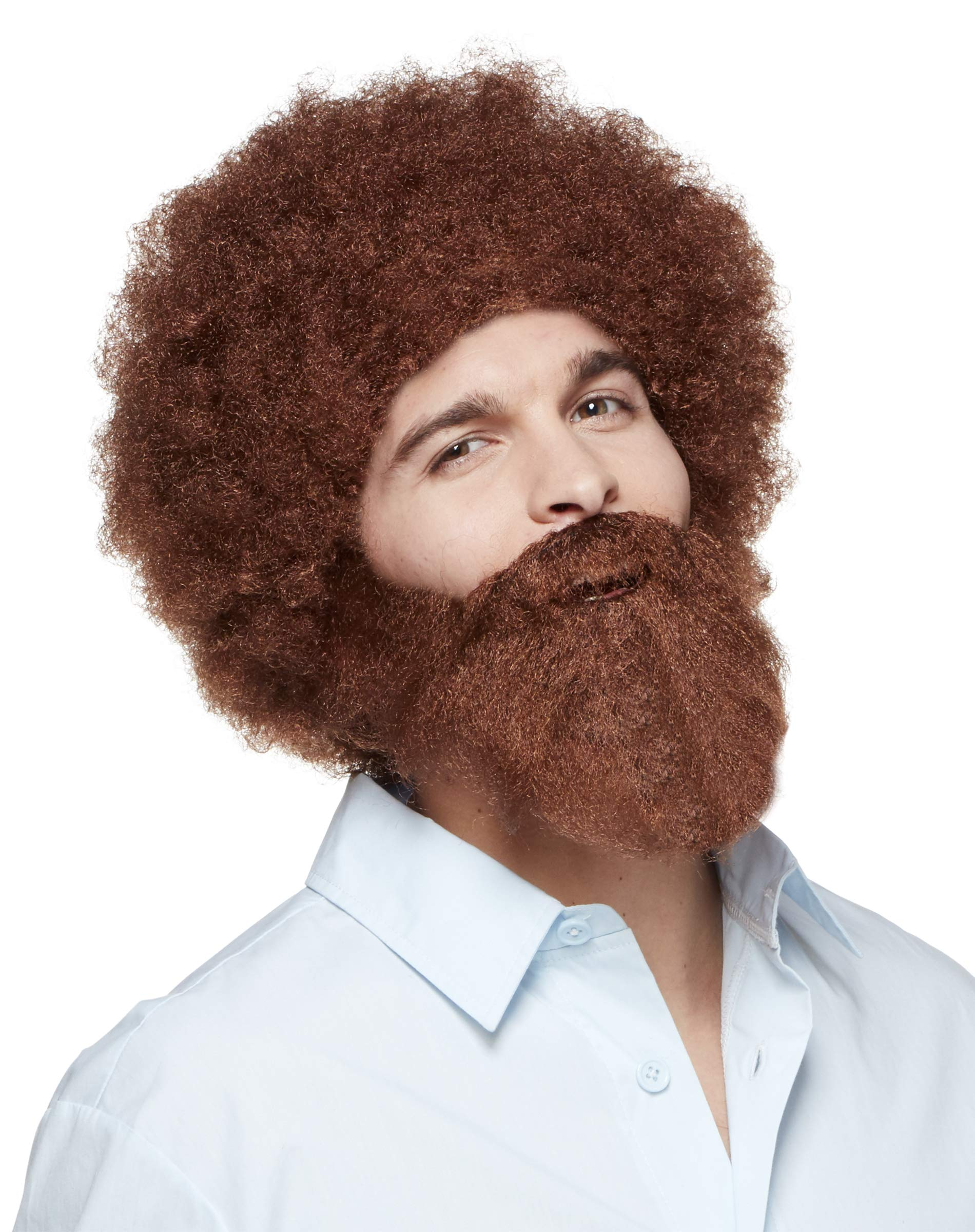 Spirit Halloween Bob Ross Wig and Beard Set