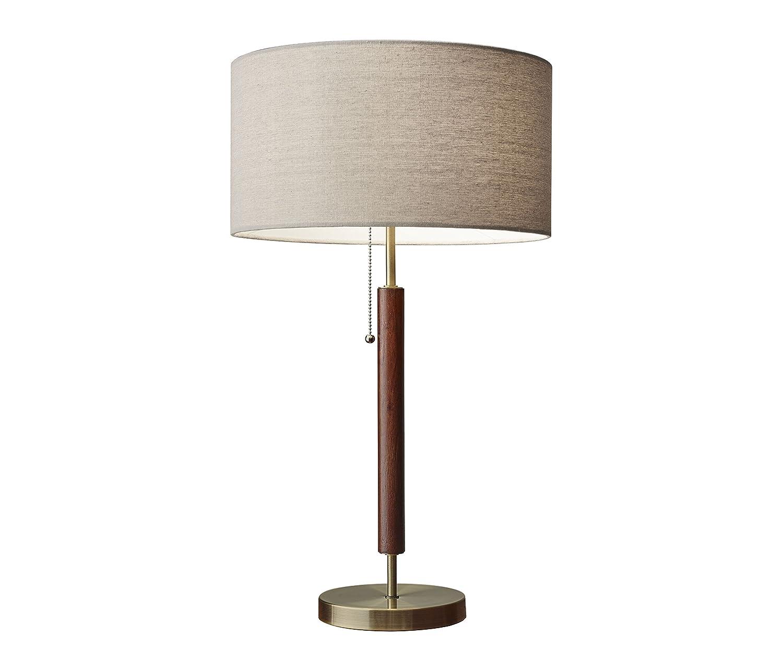 Adesso 3376 15 hamilton antique design table lamp brass finish 26 25 x 15 00 x 15 30 inches amazon com