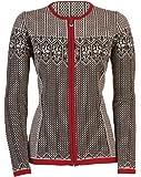 Dale of Norway - Veste pour femme Sigrid, couleur noir/blanc cassé/rose rouge, taille