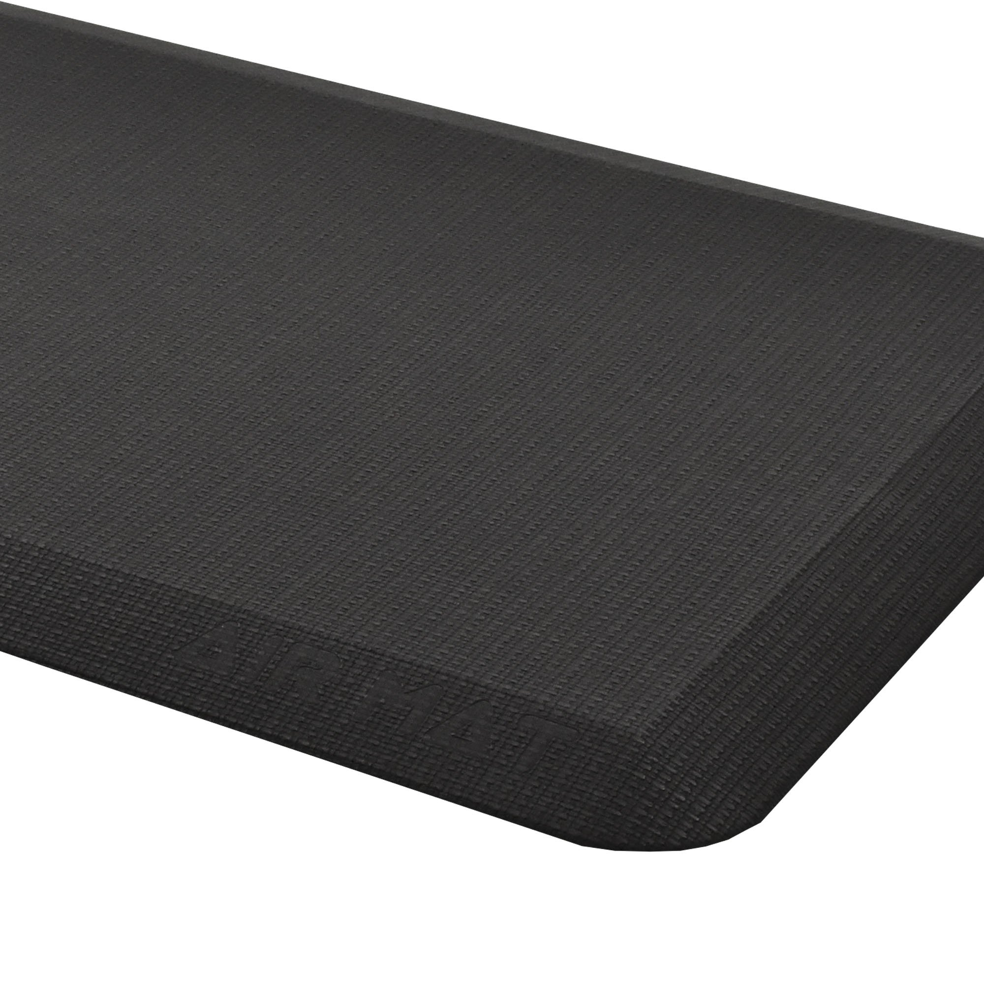 AirMat Anti Fatigue Comfort Mat for Kitchen and Standing Desk. Premium 3/4'' cushioned non skid floor rug, Non Toxic and ergonomically design (20x39'') Matte Black