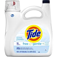 Tide Free & Gentle Liquid Laundry Detergent 96 Loads, 4.08L