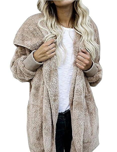 M-Queen Mujer Abrigo de Sudaderas con capucha Cárdigan parka largo Chaqueta Sudaderas Parka Outwear
