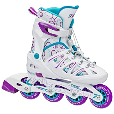 Roller Derby Girl's Stinger 5.2 Adjustable Inline Skate : Sports & Outdoors