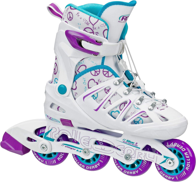 Roller Derby Girl s Stinger 5.2 Adjustable Inline Skate