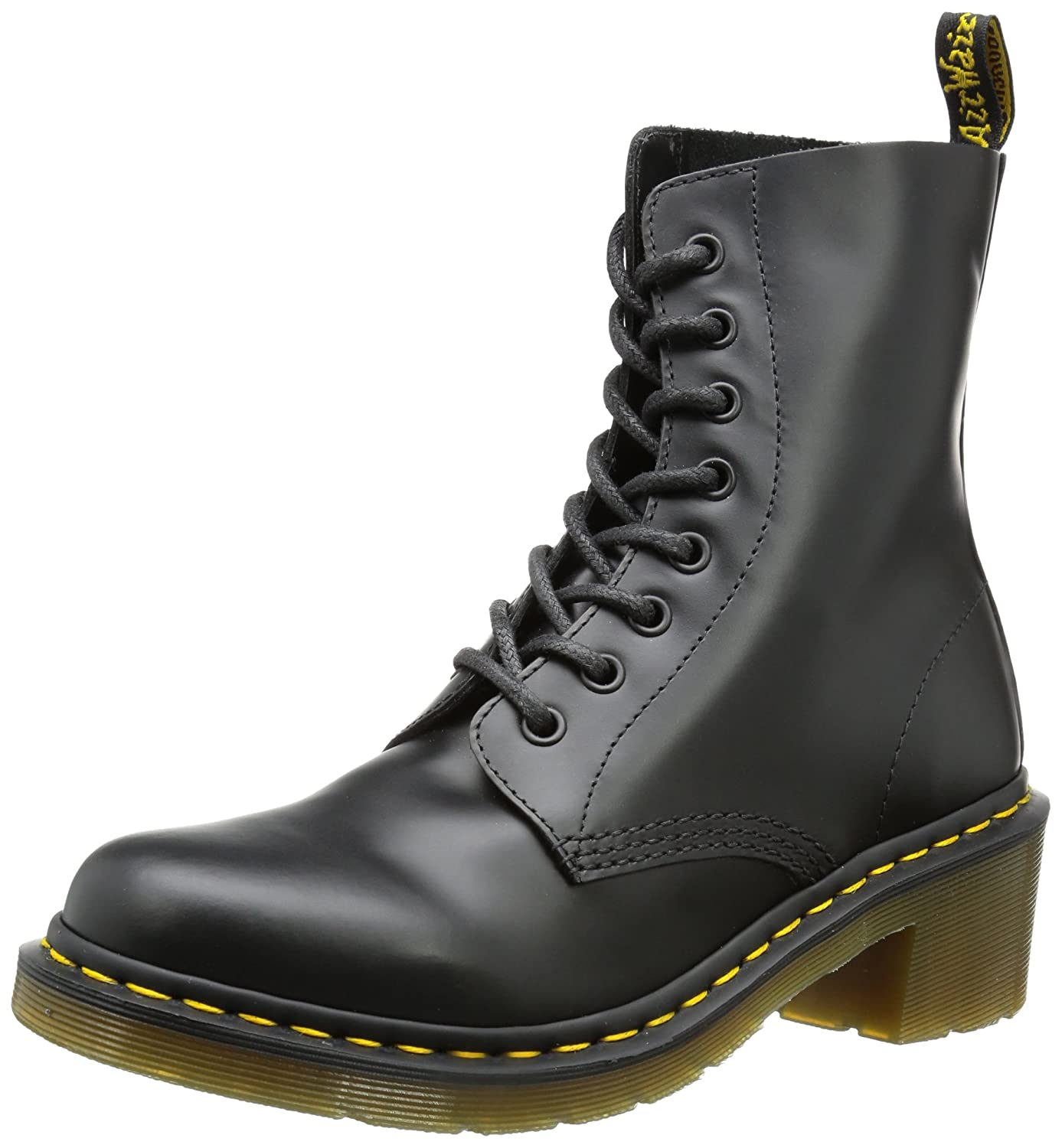Dr. Martens Women's Clemency Boot B0073ZHTPY 5 UK/7 M US|Black Smooth