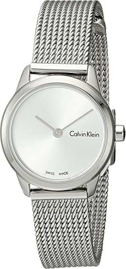 Calvin Klein Womens Authentic Watch - K3M231Y6 Silver One Size ... 629abf49c97