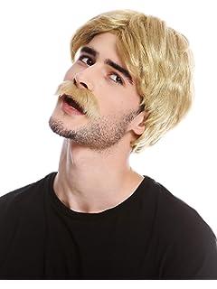 Wig Me Up Parrucca Uomo Toupet Colore Biondo Biondo Platino