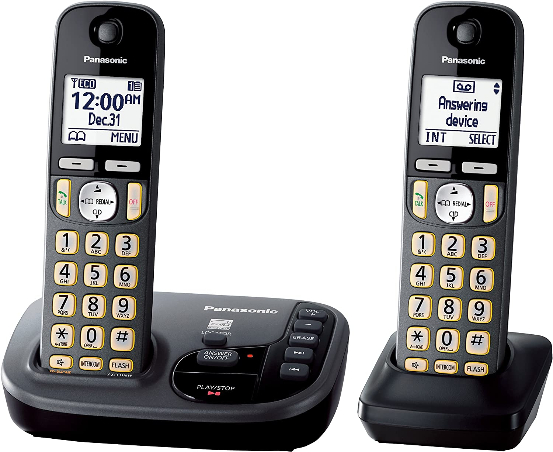 Panasonic kx-tgd222 m teléfono inalámbrico con contestador automático máquina 2 terminales: Amazon.es: Electrónica