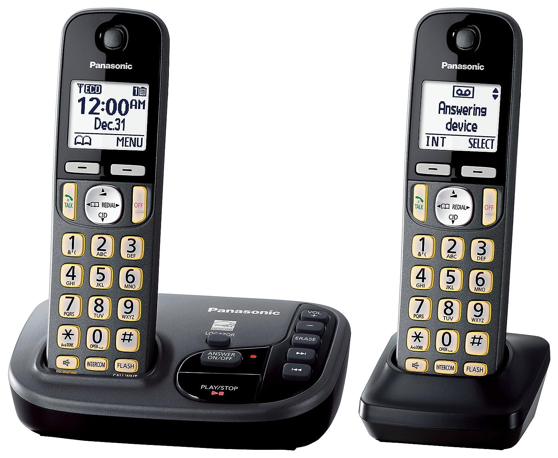 Amazon panasonic kx tgd222m cordless phone with answering amazon panasonic kx tgd222m cordless phone with answering machine 2 handsets electronics sciox Choice Image
