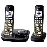 Amazon Price History for:Panasonic KX-TGD222M Cordless Phone with Answering Machine- 2 Handsets