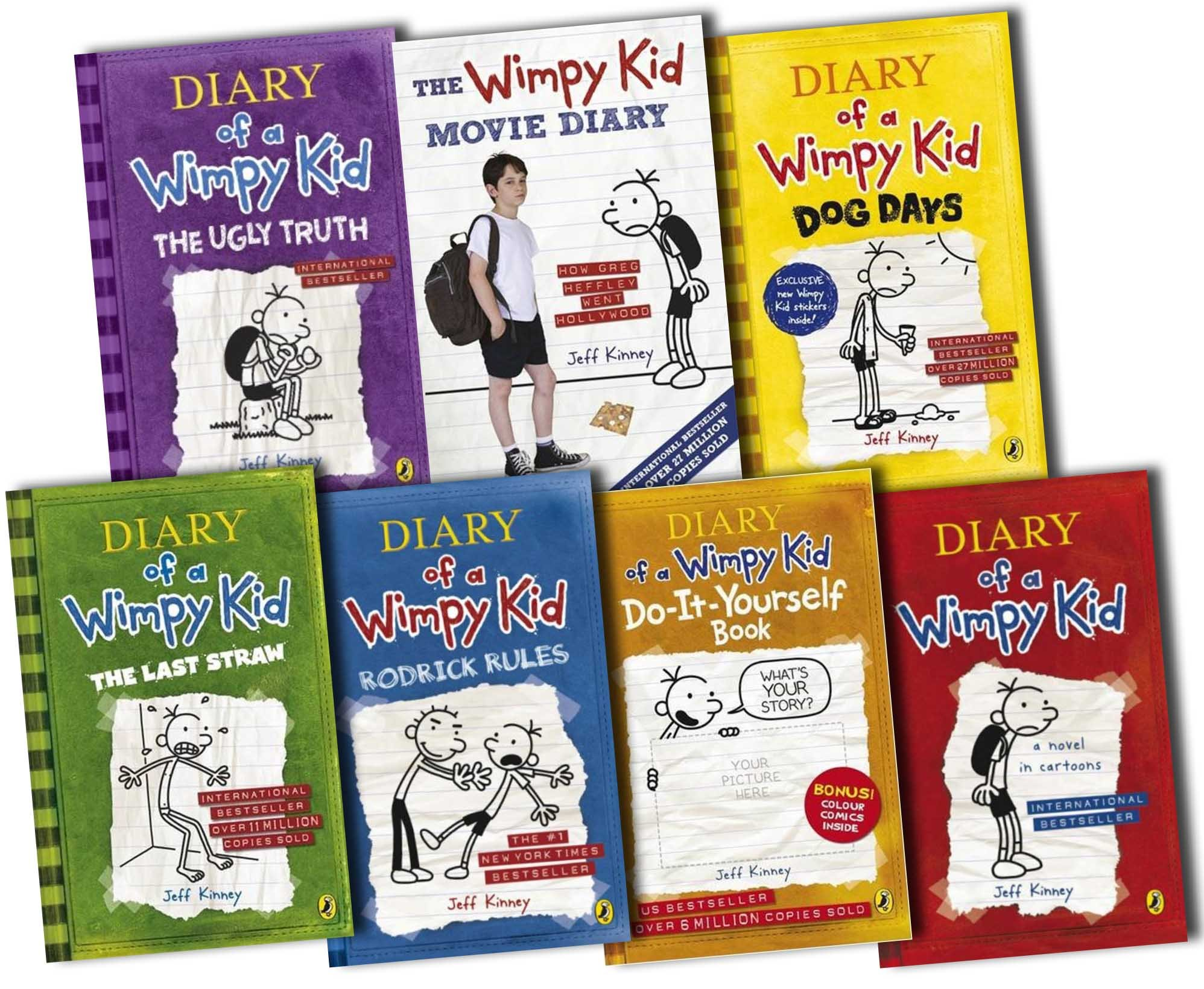 Diary of a wimpy kid collection 7 books set pack by jeff kinney diary of a wimpy kid collection 7 books set pack by jeff kinney jeff kinney 9780141351698 amazon books solutioingenieria Image collections