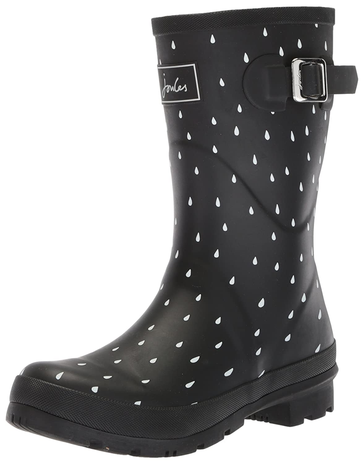 Joules Women's Mollywelly Rain Boot B073XJSZ8K 6 B(M) US|Blackraindrop