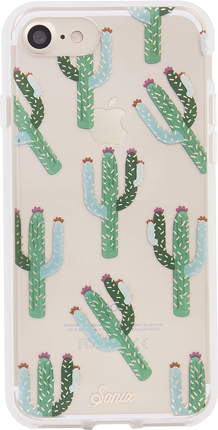 Sonix Cactus Case [Drop Test Certified] Protective Clear Cactus Case for Apple iPhone 6, iPhone 6s, iPhone 7, iPhone 8, iPhone SE