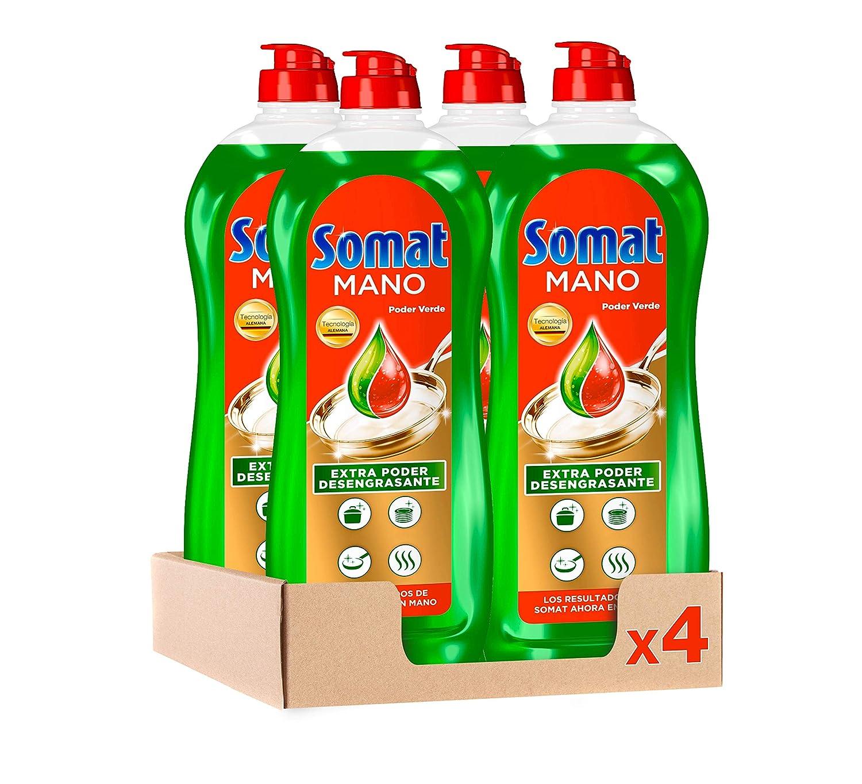 Somat Lavavajillas Mano Poder Verde - Pack de 4, Total 3.8 L ...